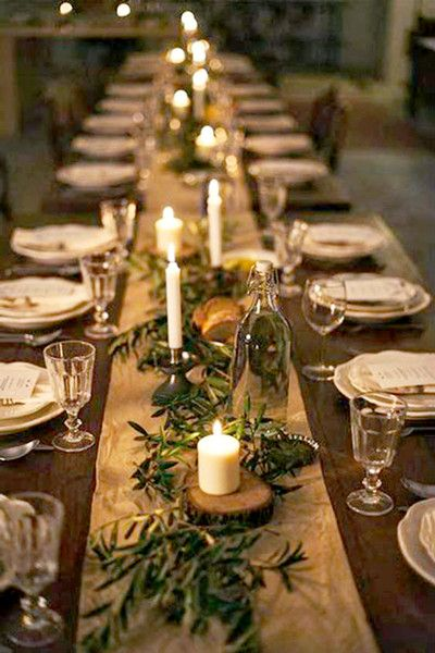 Low Lighting Bang Dinner Party Christmas Table Decorations