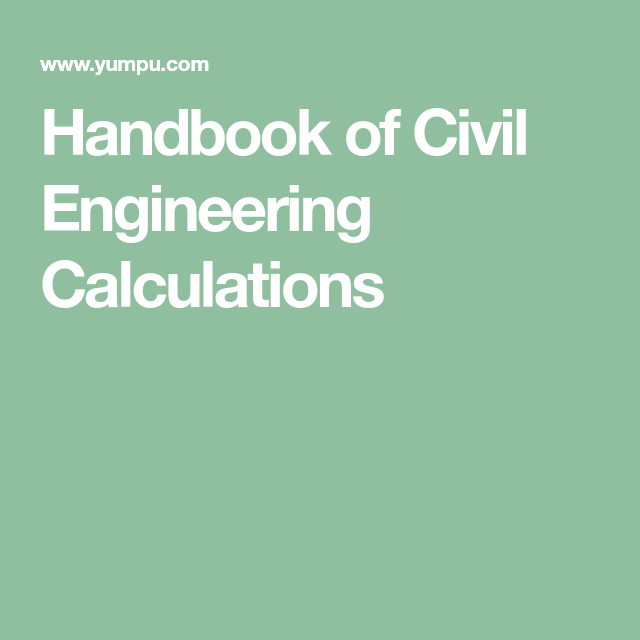 Handbook of civil engineering calculations civil engineering handbook of civil engineering calculations fandeluxe Choice Image