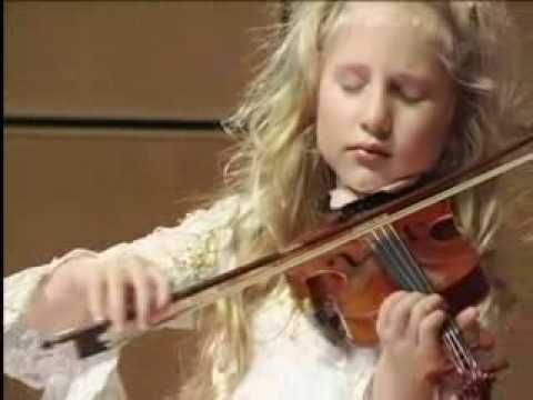 "Extraordinary 6 Year-Old Child Violinist Brianna Kahane Performs ""La Cinquantaine"" on a 1/8-size violin. See more of this young violinist #from_youngviolinvirtuoso"