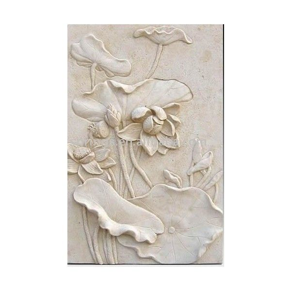 Sandstone Relief Sculpture Wall Decoration Products Buy Sandstone Liked On Polyvore Featuring Home Home Decor Vintage Vintage Home Decor A 壁画 陶芸作品 蓮の花
