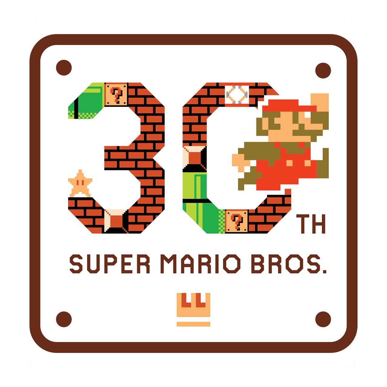 Super Mario Bros 30th Anniversary Logo Super Mario Bros Super Mario Mario Bros