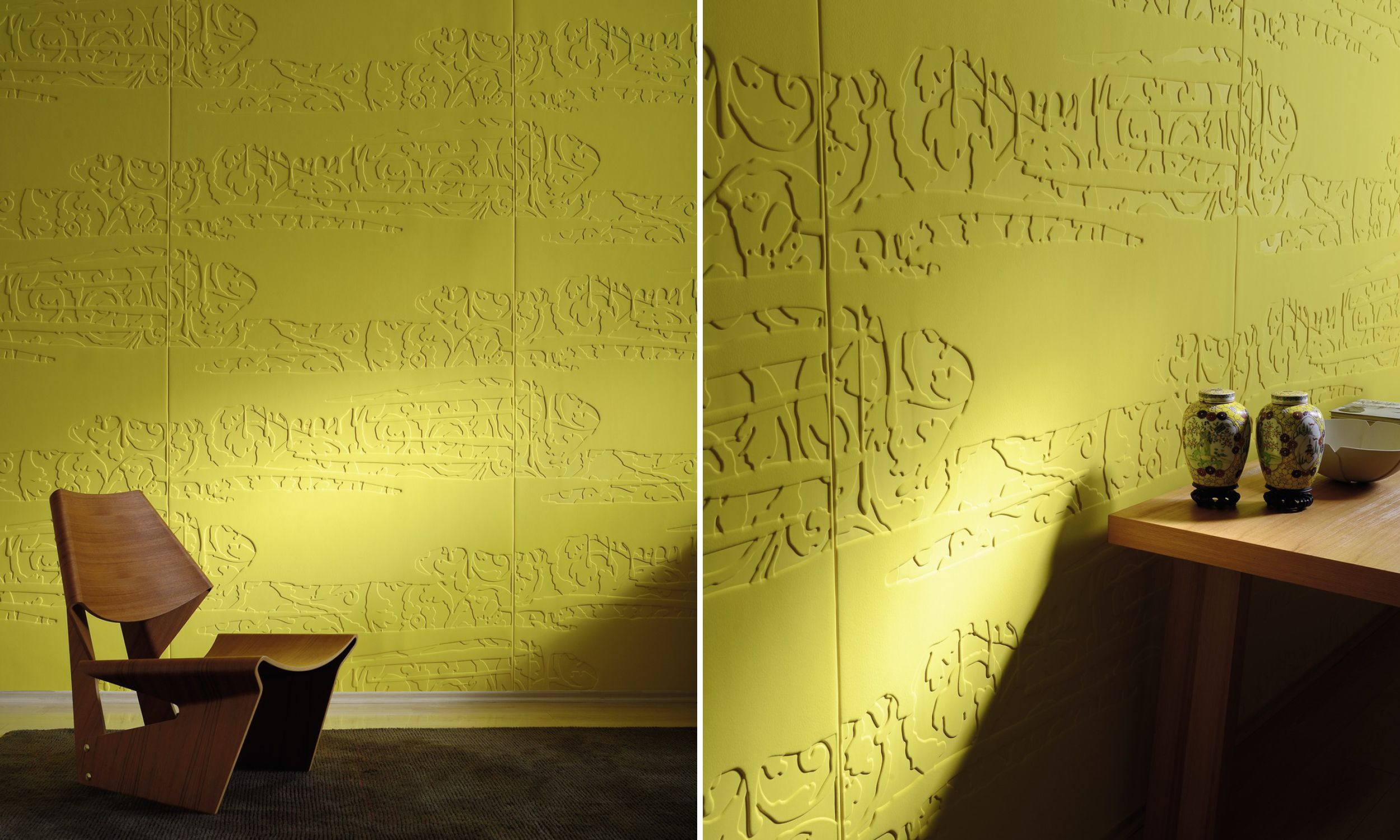 Layout with a plaster effect. <br>   MurS   Pinterest