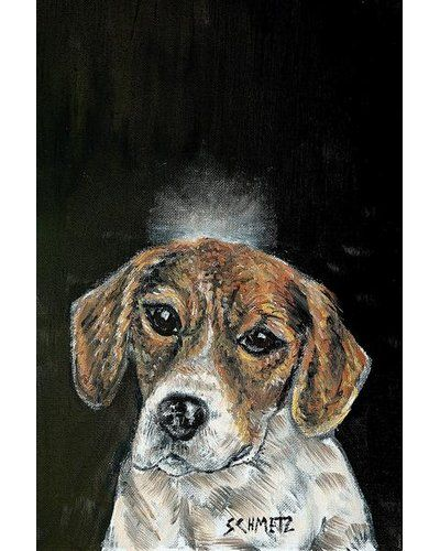 East Urban Home Beagle Angel By Jay Schmetz Oil Painting Print