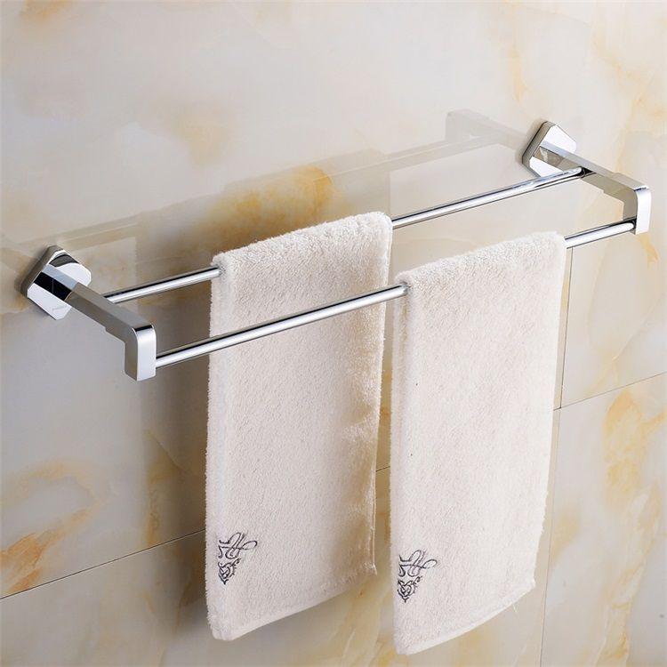 タオル掛け 浴室二重タオルバー 壁掛けハンガー バスアクセサリー