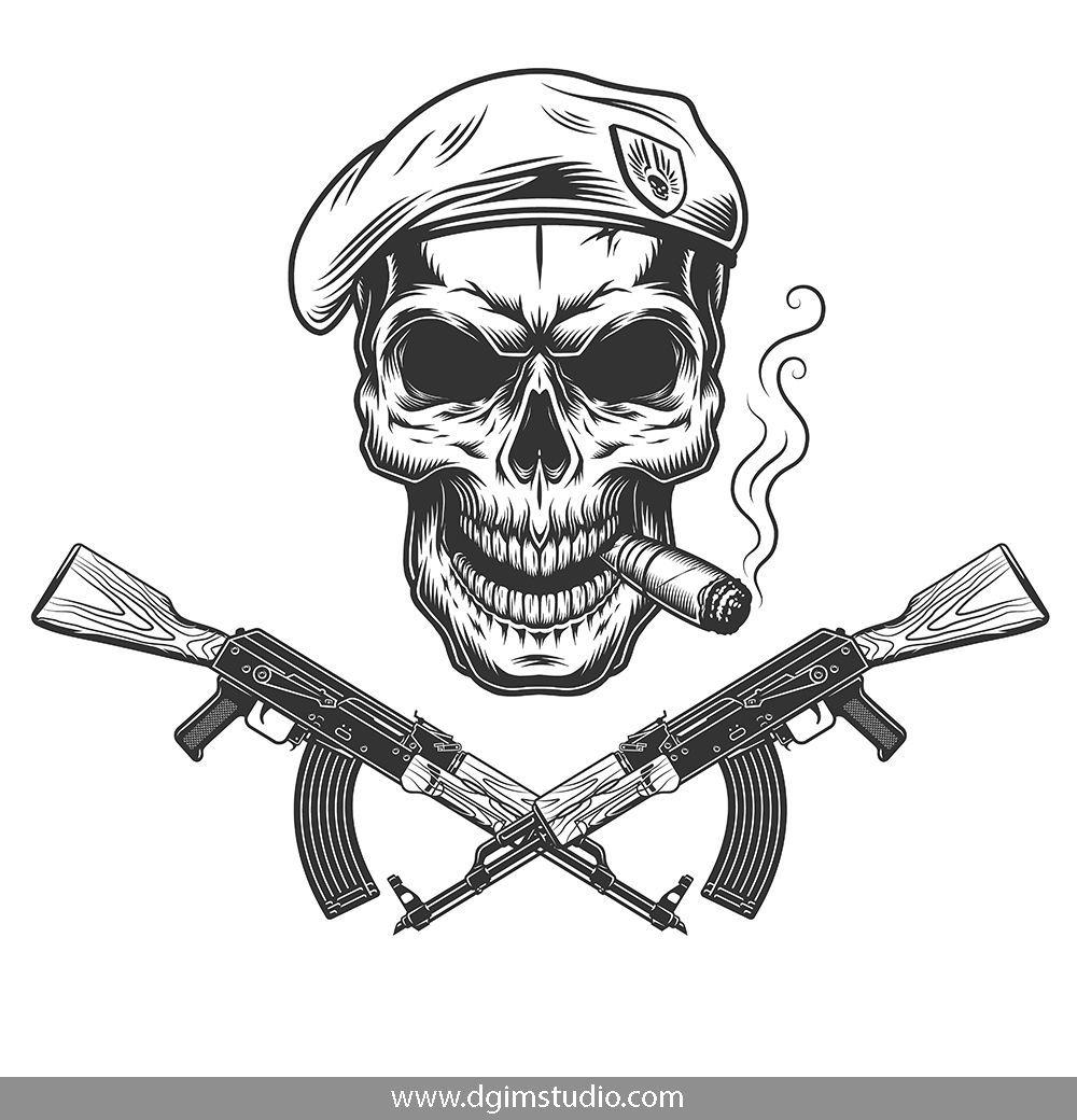 Skull creator in 2020 Skull art, Military drawings, Skull
