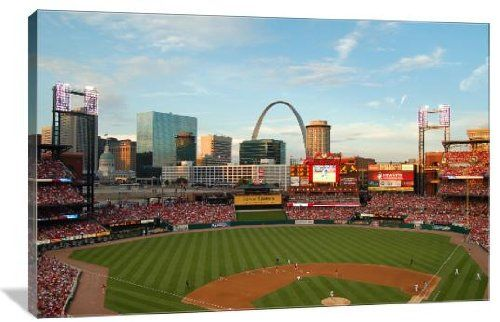 Busch Stadium 36 x 24 Gallery Wrapped Canvas Wall Art ** Find out more about the great product at the image link.Note:It is affiliate link to Amazon.
