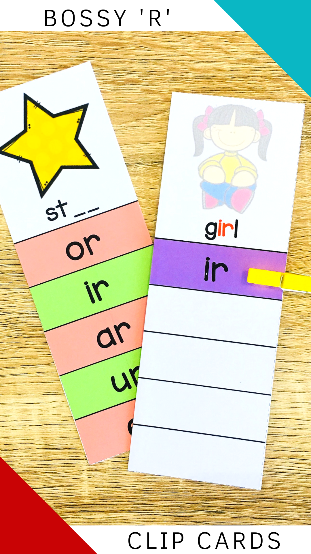 R Controlled Vowels Clip Cards In