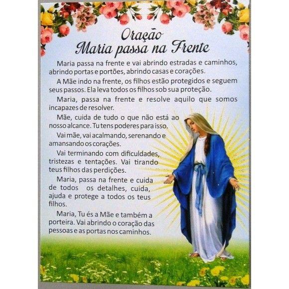 Well-known 2564 - Postal - Oração Maria Passa Na Frente - Paz e Bem  CV55