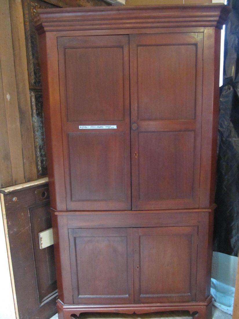 Antique Cherry Corner Cabinet - Antique Cherry Corner Cabinet Antique Furniture