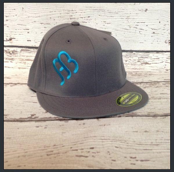 2dfda83364e Anderson Bean Tilt Flat Bill Gray   Turquoise Hat.