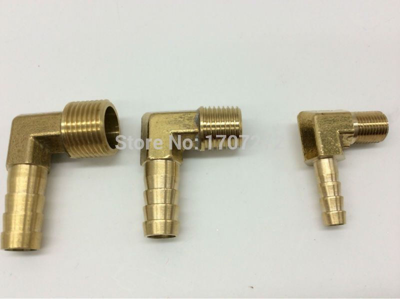 Free Shipping 6mm 8mm 10mm 12mm Hose Barb X 1 2 Inch Male Bsp Thread Elbow Brass Barbed Fitting Coupler Connector Adapter Barbs Fittings Brass