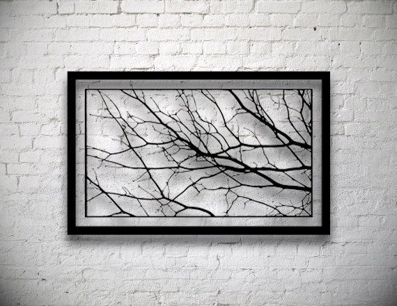 Large Tree Branch Decor- Modern Wall Art- Luxury Wall Art- Entryway ...