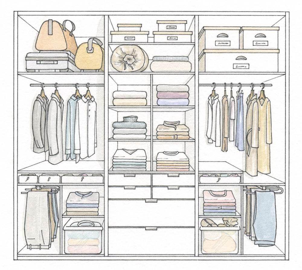 Trucos para organizar y ordenar bien el armario - Organizar armarios empotrados ...