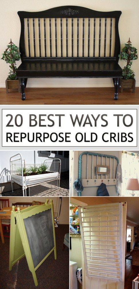 20 ways to repurpose baby cribs