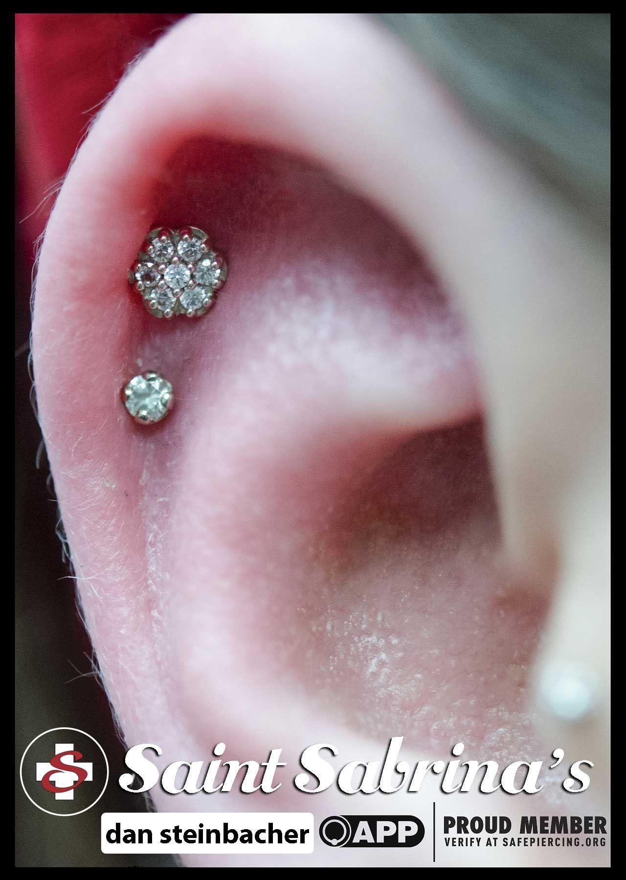 Dual Ear Pinna Piercing  Tattoo  Pinterest  Piercings Piercing
