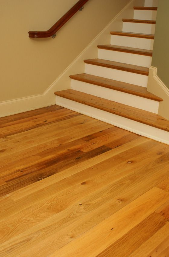Best Mix Reclaimed New White Oak 2 Jpg 560×851 Stairs Like 400 x 300