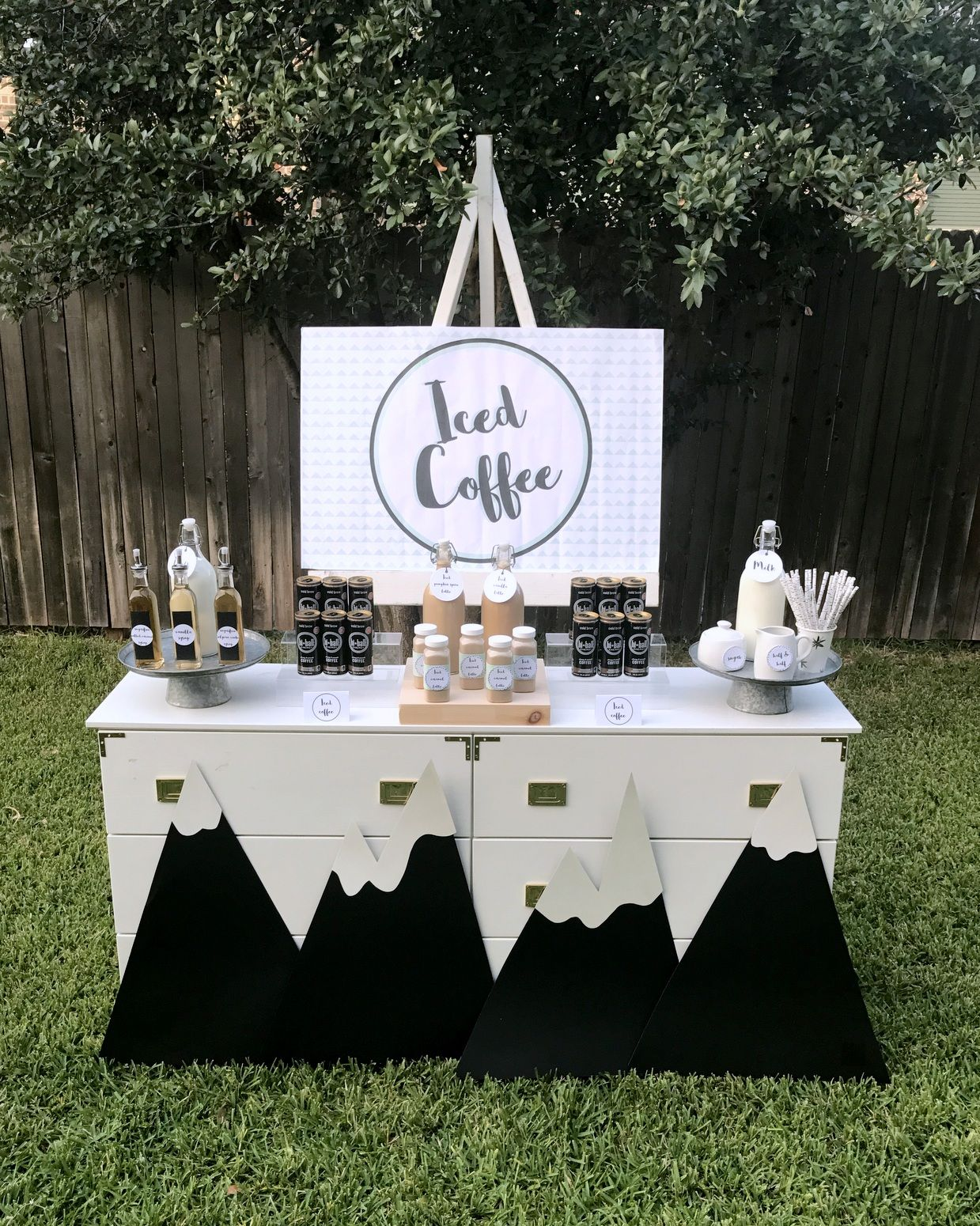 Mountain Y Bear Party Iced Coffee Bar Coffee Themed Party Bear Birthday Party Mountain Birthday Party