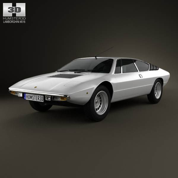 lamborghini urraco p300 1979 3d model | lamborghini and cars