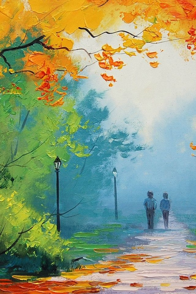 Paintings Love Mobile Wallpaper Mobiles Wall Painting