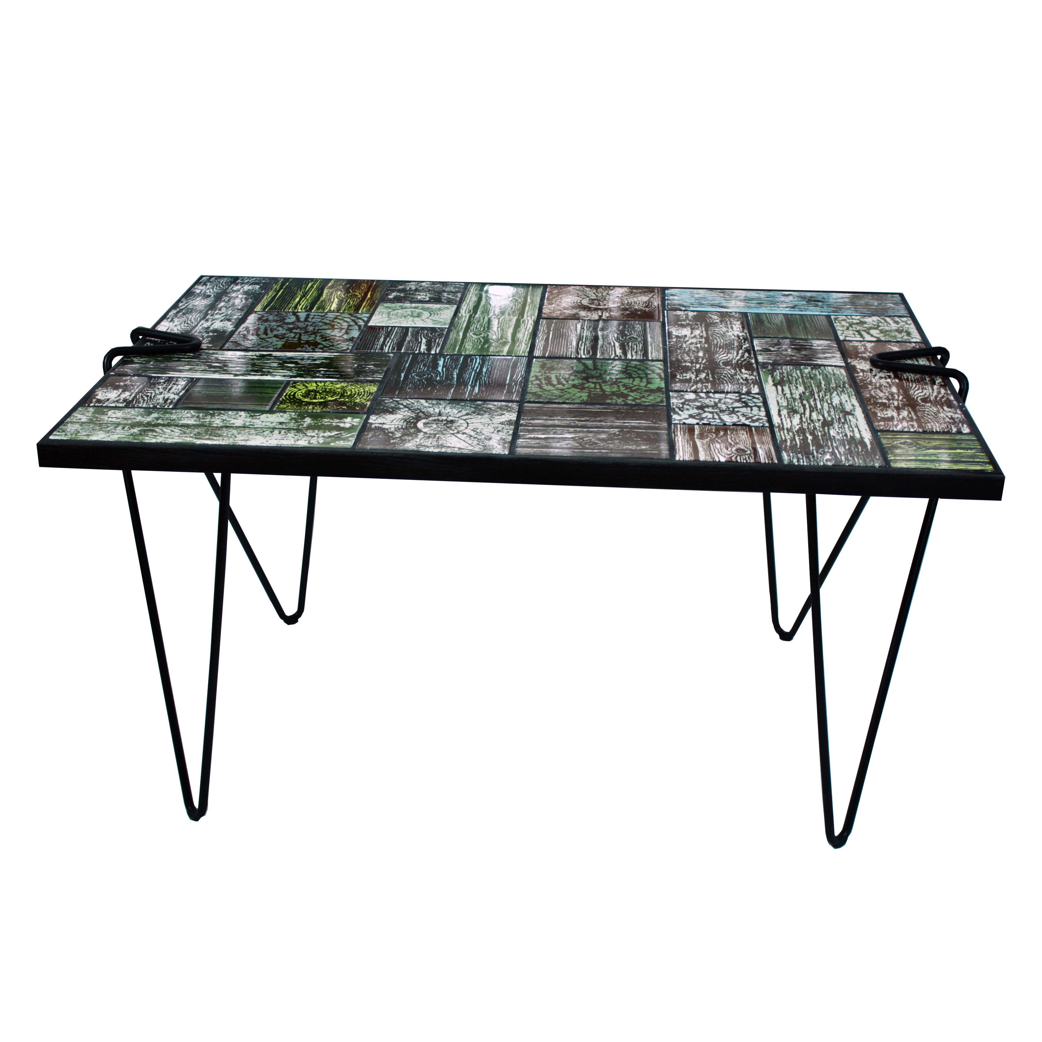 Wannabe Wood  The Table Ceramic Tile Top Table Screen