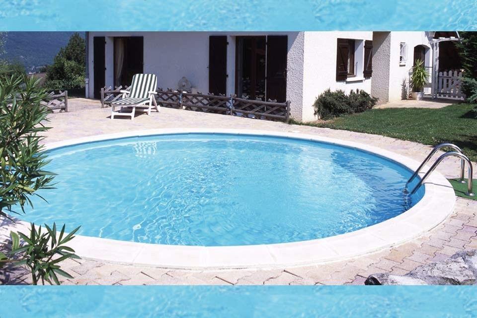 Rond zwembad tuin round swimming pool garden fonteyn