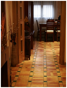 French Roof Tiles Kitchen Floor