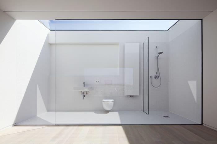 Banheiro minimalista interior design badkamer interieur bad