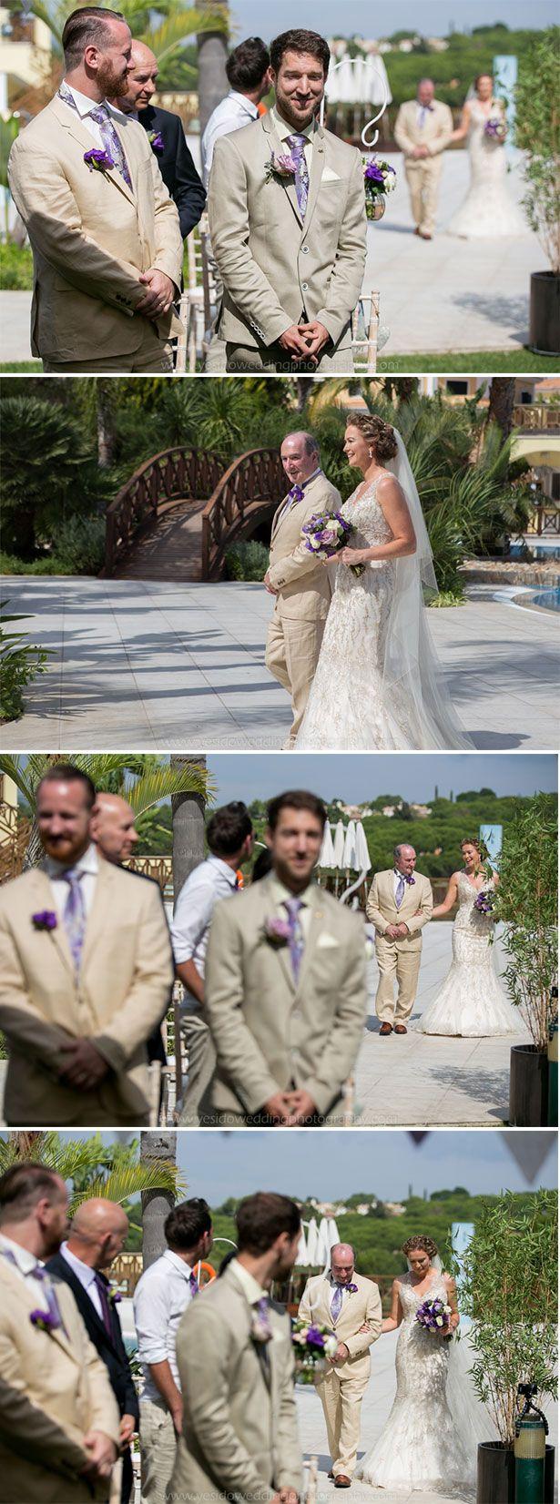 Wedding ceremoyn at Monte Da Quinta resort in Almancil, Portugal | Marina and Gary's lavender real wedding | Yes I do! Algarve Wedding Photography | Confetti.fo.uk