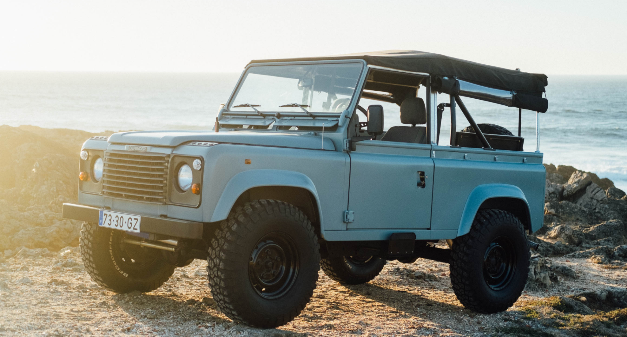 This Matte Blue Land Rover Defender Is Ridiculously Cool Land