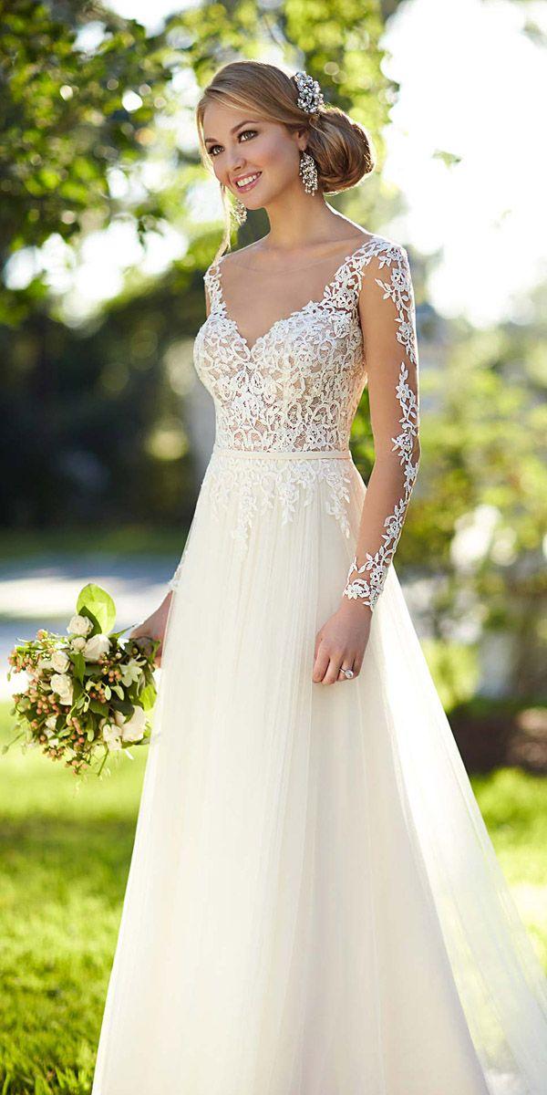 ec1a6295c179d Gorgeous Tattoo Effect Wedding Dresses ❤ See more: http://www.weddingforward