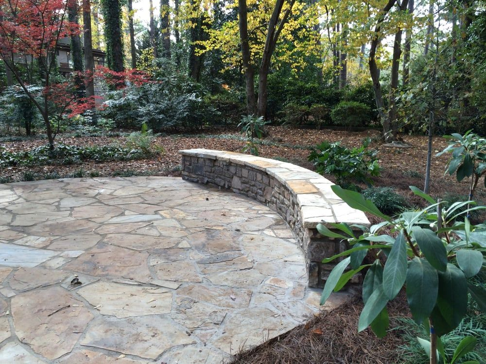 Photo Of Plants Creative Landscapes Decatur Ga United States Tennessee Flagstone Patio With Stack Ston Creative Landscape Flagstone Patio Avondale Estates