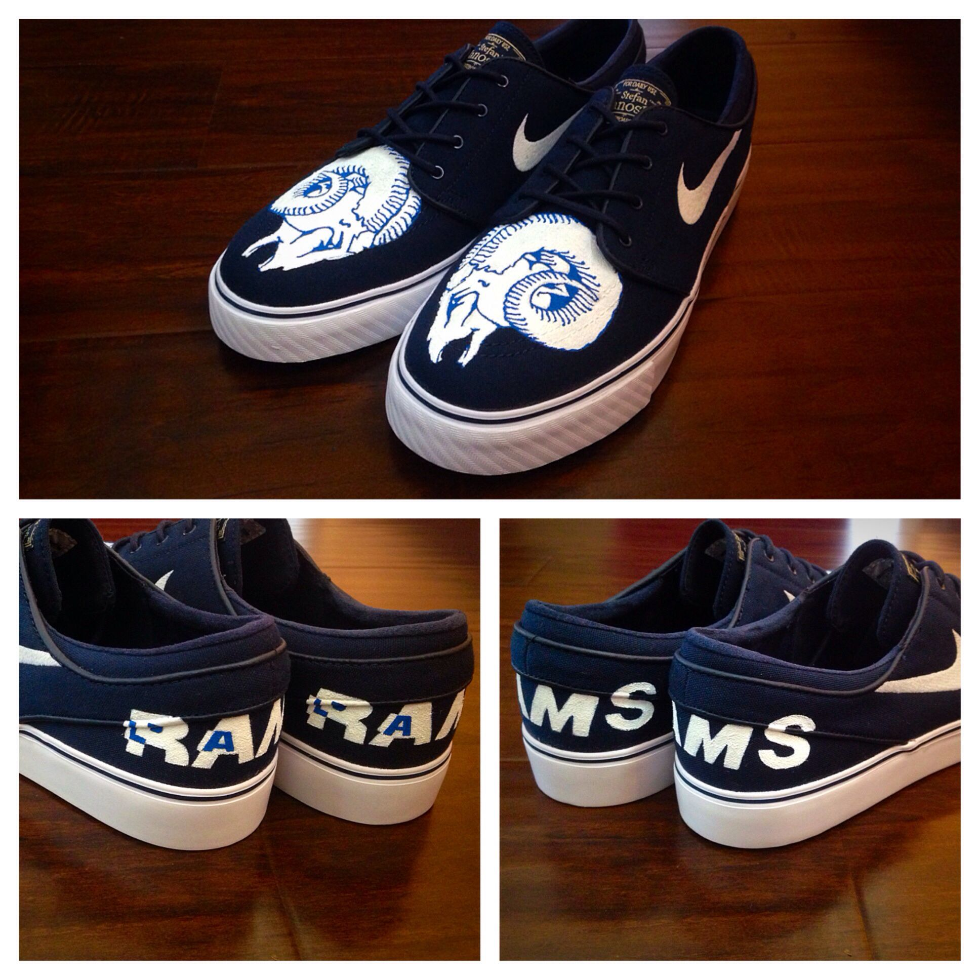 Nike Janoski customs Los Angeles Rams inspired