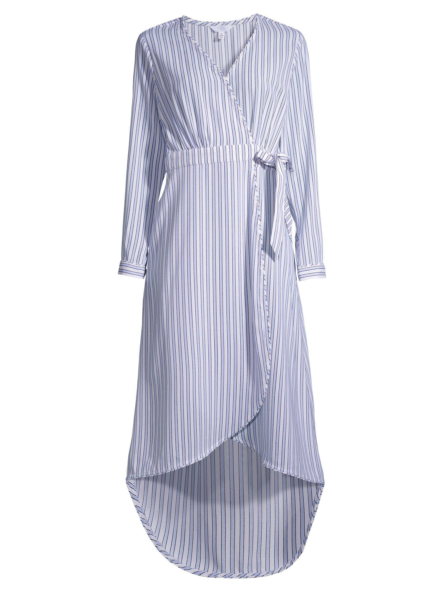 Time And Tru Time And Tru Women S Long Sleeve Faux Wrap Dress Walmart Com Wrap Dress Women Long Sleeve Dresses [ 2000 x 1500 Pixel ]