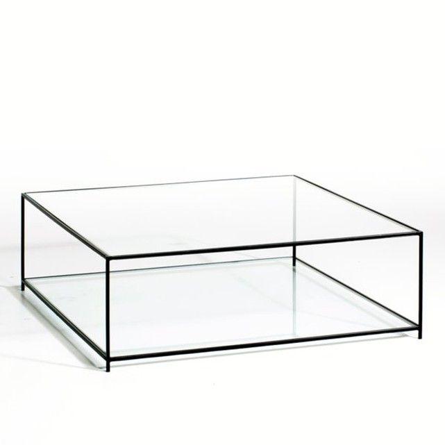 Sybil Square Tempered Glass Coffee Table Glazen Salontafels