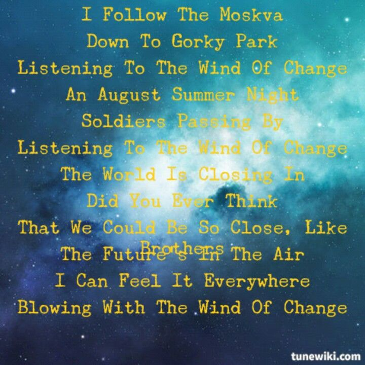 Wind Of Change The Scorpions Rock Quotes Music Lyrics Lyrics