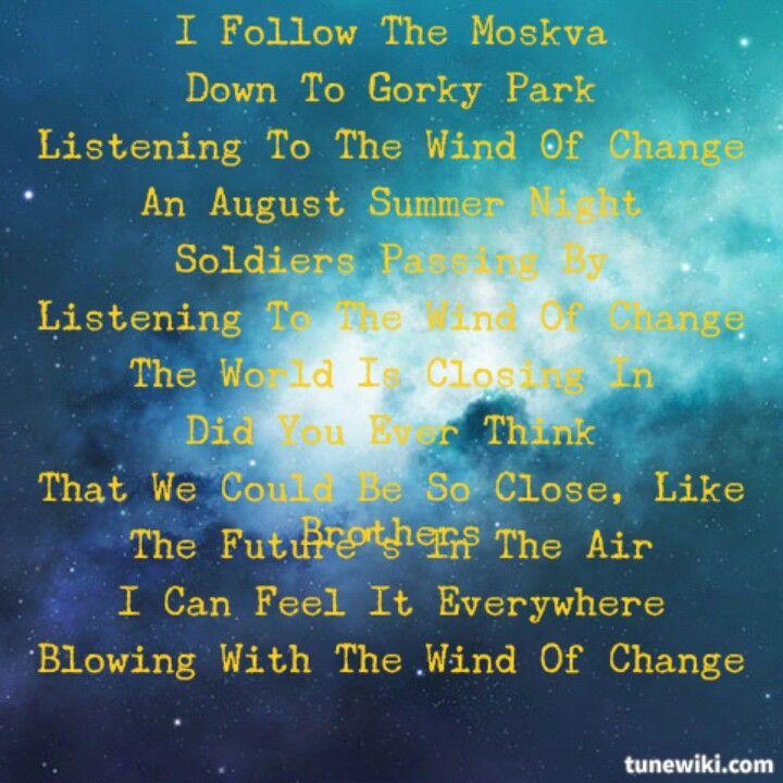 Winds Of Change Scorpions Music Lyrics Rock Quotes Wind Of Change