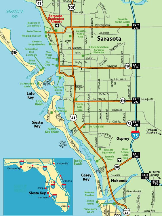 Map Of Florida Sarasota.Getting To Siesta Key Florida Travel Florida Siesta Key