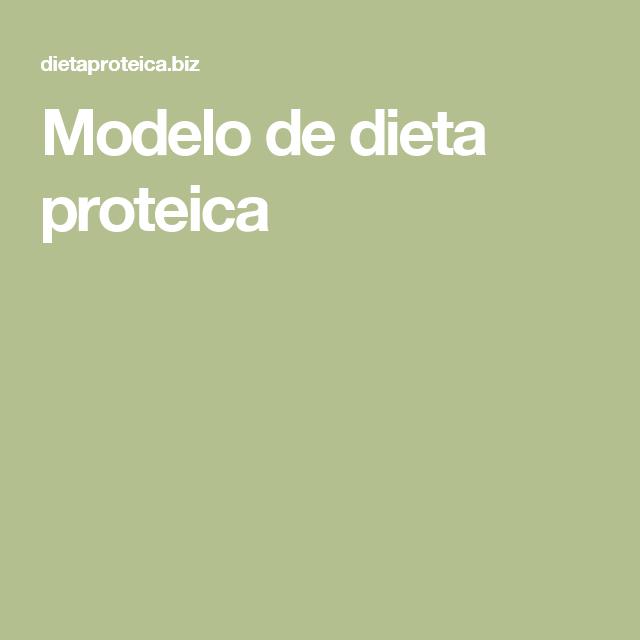 Modelo de dieta proteica
