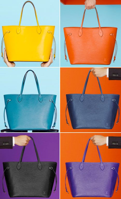 522c31398dfc Louis Vuitton Colorful Epi Neverfull Bag Collection   Shoes and ...