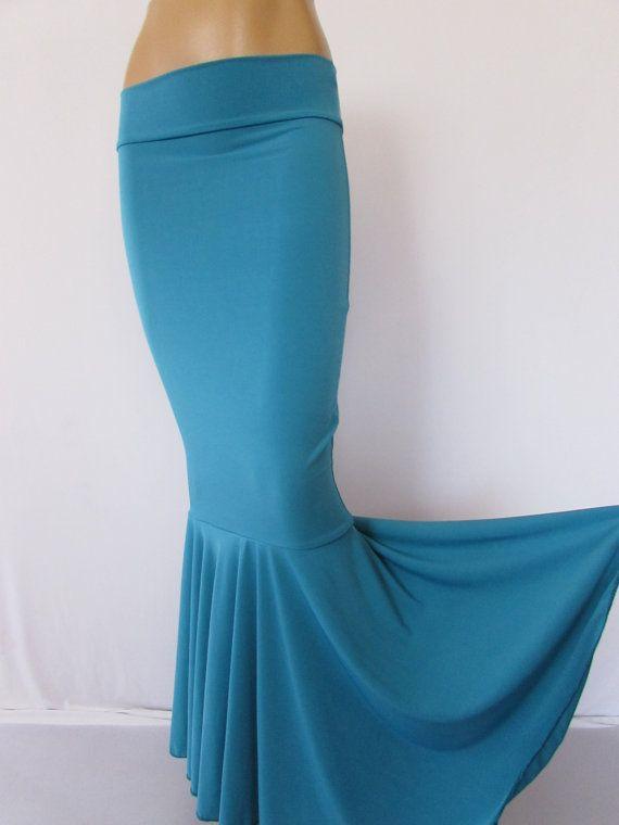 Mermaid Skirt Spandex Fabric USA Teal Turq ITY Skirt , Fairy Circle ...