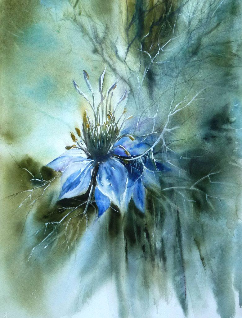 Roselyne Farail Peinture Fleurs Aquarelle Fleurs Fleurs Abstraites