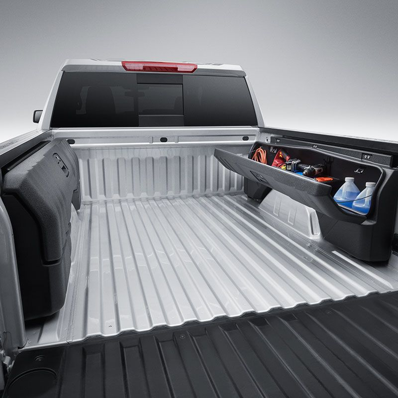 2019 Silverado 1500 Side Mounted Bed Storage Boxes Short Box