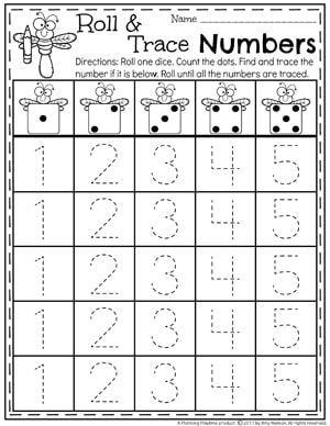 Number Worksheets Kindergarten Math Worksheets Numbers