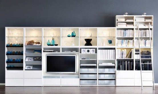 Awesome Collection Of Ikea Book Shelf Unitsmaking A Fabulous Custom Ikea Storage Living Room Inspiration Design