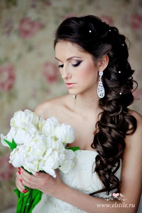 4 Perm Bridal Hairstyles That You Can Try Right Too | Loose side ...