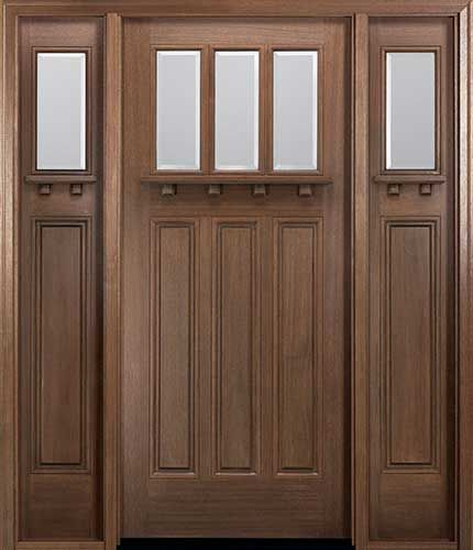 Miawp800g Craftsman Style Mahogany Entry Door With Optional Matching