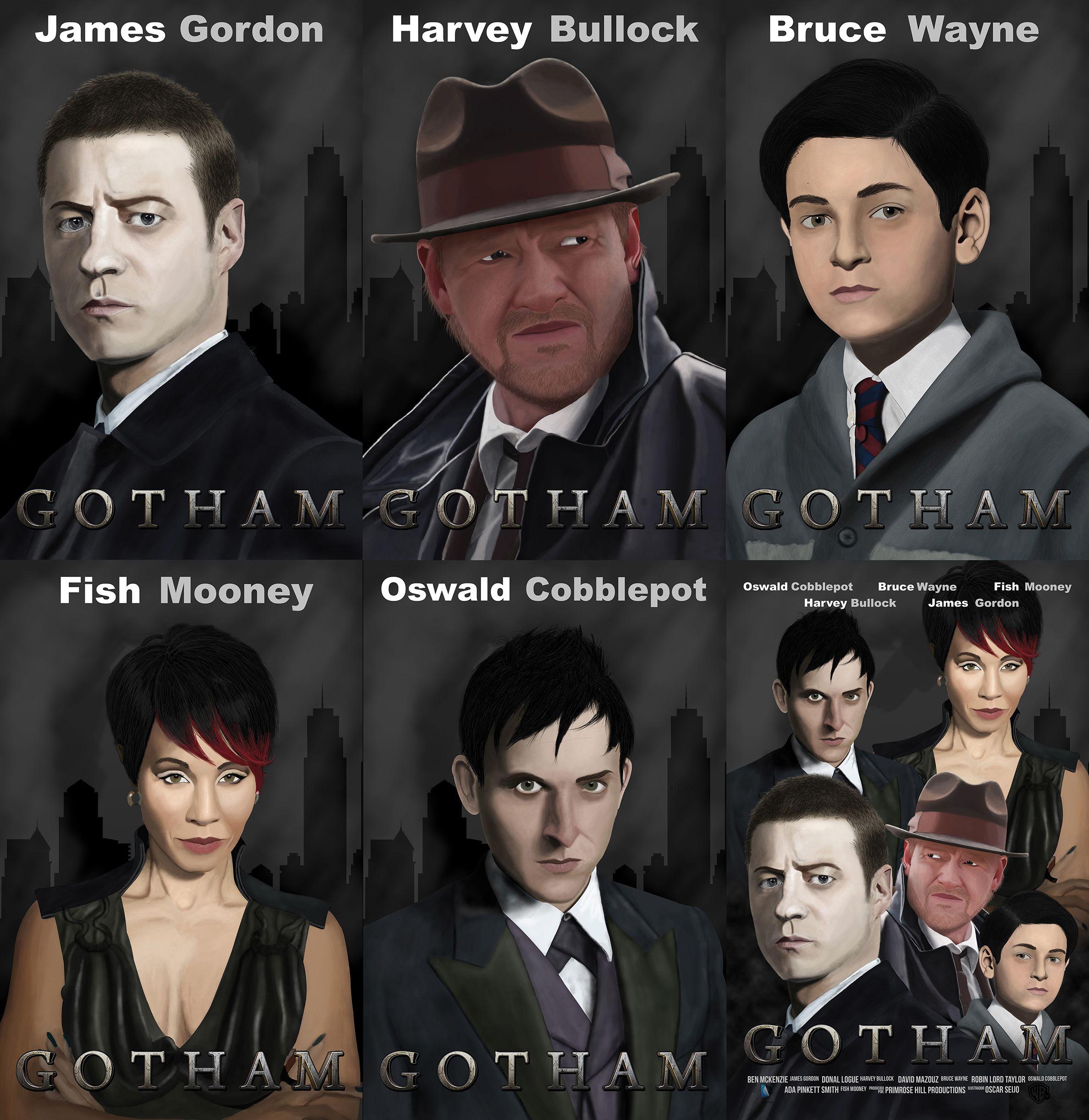 Ilustraciones de la serie Gotham.