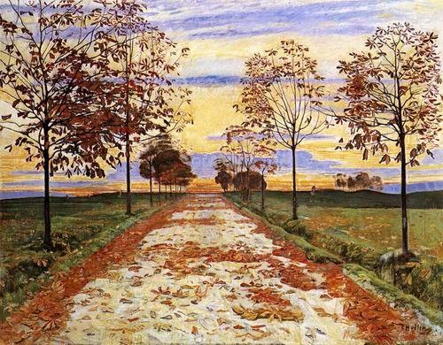Autumn Evening by Ferdinand Hodler