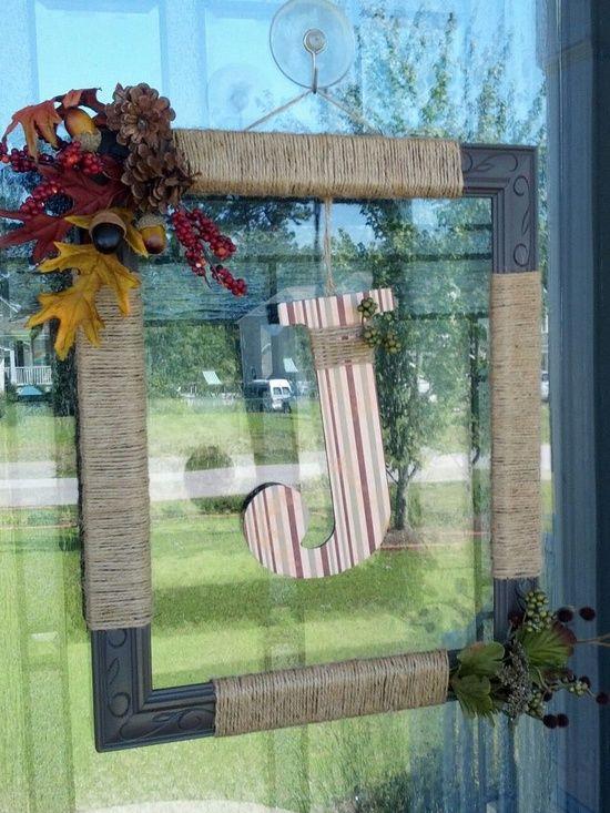 DIY Fall Wreath   DIY/Crafts / DIY - picture frame wreath with ...