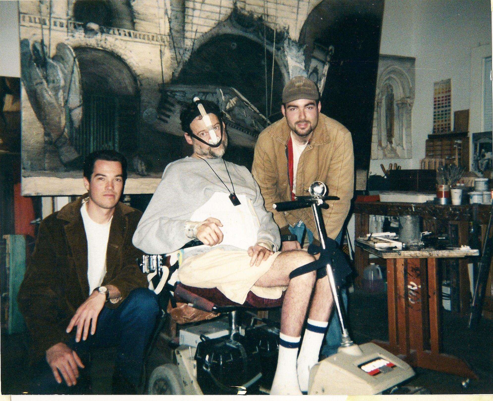 Tony Peters, working with Richard Bunkall, 1999.